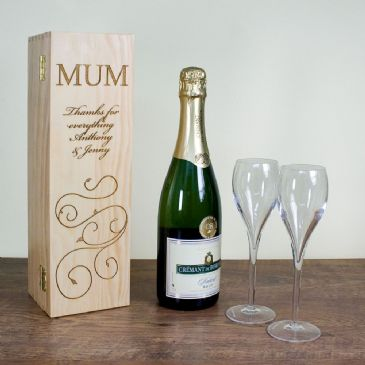 Mother's Day Wine Box With Swirls